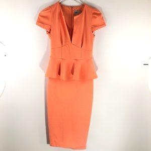 ASOS Peplum Peach Dress